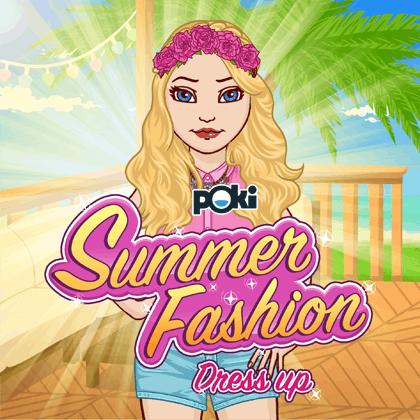لعبة تلبيس البنات ازياء الصيف الرائعة